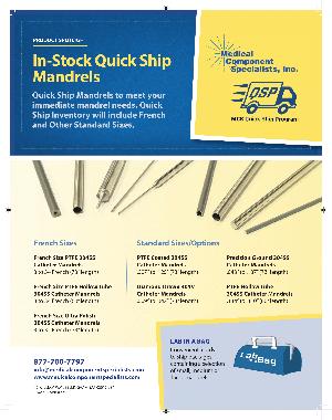 In Stock Quick Ship Mandrels Datasheet